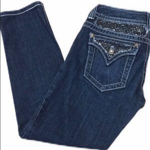 Miss Me Women's Bejeweled Skinny Jeans Size 27 EUC